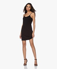 no man's land Viscose Jersey Slip Dress - Black