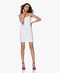 no man's land Viscose Jersey Slip Dress - Ivory