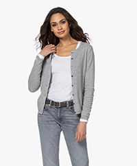 Resort Finest Lucca Basic Cashmere Cardigan - Grey