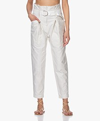 IRO Cursola Cotton Paperbag Pants - Cloudy White