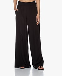 Joseph Huland Silk Crepe Wide-leg Pants - Black