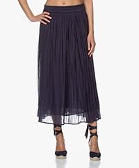 Josephine & Co Bowen Crinkle Cotton Maxi Skirt - Navy