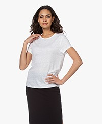 Filippa K Hazel Linnen T-shirt - Wit