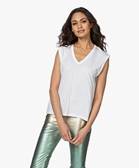 Zadig & Voltaire Adria Happy Night Tanktop - Wit