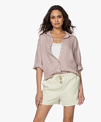 by-bar Bodil Linnen Blouse - Blush