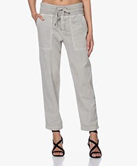 James Perse Pull On Clean Cargo Slub Broek - Salt