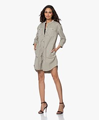 James Perse Utility Slub Cotton Dress - Chino