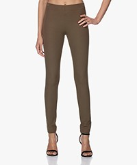 Joseph Gabardine Stretch Leggings - Khaki