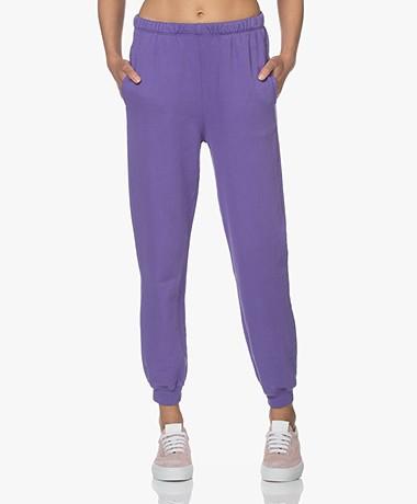 American Vintage Feryway Bio Cotton Blend Sweatpants - Vintage Purple