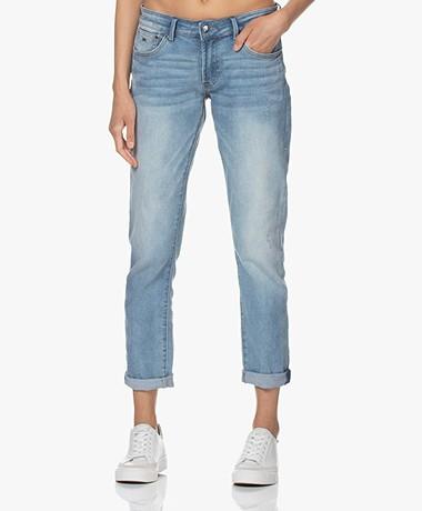 Denham Monroe Girlfriend Fit Jeans - Lichtblauw