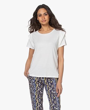 MKT Studio Twinky Bio Katoenen T-shirt - Krijt