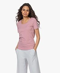 Repeat Cotton Basic Round Neck T-shirt - Gloss