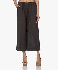by-bar Ines Linen Loose-fit Pants - Jet Black