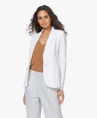 JapanTKY Dannot Travel Jersey Blazer - White