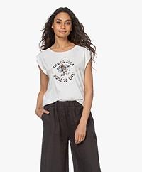 MKT Studio Tampico Organic Cotton Print T-shirt - Chalk