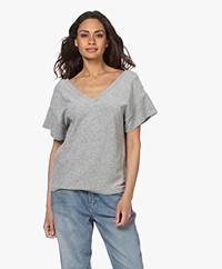 Majestic Filatures Terry Jersey V-neck T-shirt - Grey Melange