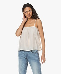 by-bar Mikky Crinkle-Viscose Top - Stone
