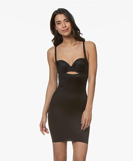 SPANX® SmartGrip Shaping Open-bust Full Slip - Very Black