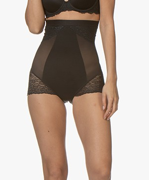 SPANX® Spotlight on Lace High Waisted Brief - Very Black