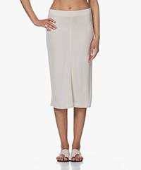 Filippa K Margaret Tech Jersey Knee-length Skirt - Ivory