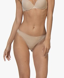 Calvin Klein Sculpted Mesh Thong - Bare