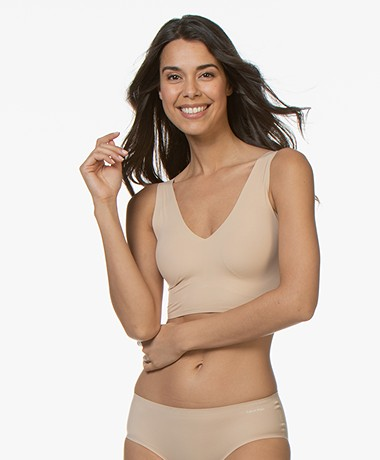 Calvin Klein Invisibles Light Lined Bralette - Bare