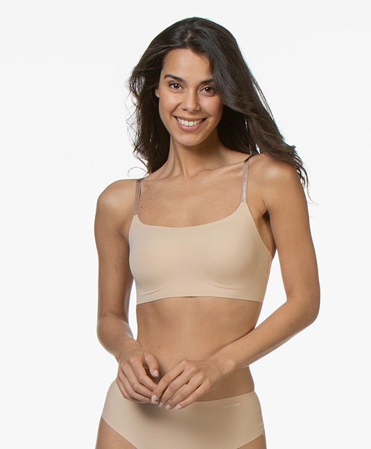 Calvin Klein Invisibles Lightly Lined Bralette - Bare