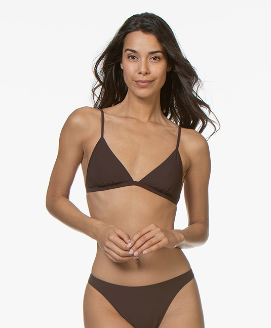 Filippa K Soft Sport Triangle Bikini Top - Fondant