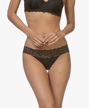 Calvin Klein Seductive Comfort Lace Briefs - Black