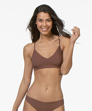 Filippa K Soft Sport Cross-back Bikini Top - Burnt Rose