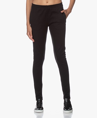 by-bar Mon Ribbed Jersey Pants - Black
