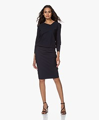 studio .ruig Joelle Tech Jersey Dress - Dark Blue