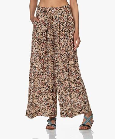 by-bar Wanda Oceano Printed Wide Leg Pants - Autumn Flower