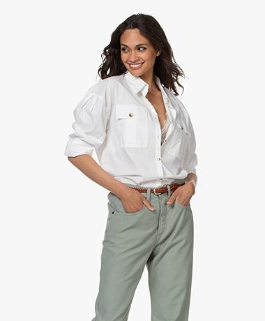 ba&sh Pepa Cotton Poplin Shirt - White