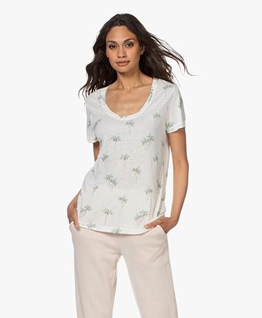 Rails The Luna Linnen-Viscose T-shirt - Sketched Palms