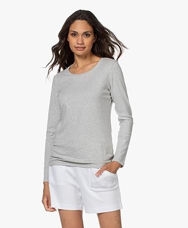Majestic Filatures Jane Deluxe Cotton Long Sleeve - Grey Melange
