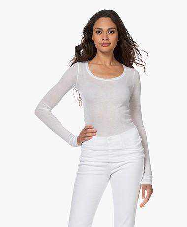 American Vintage Massachusetts Long Sleeve - White