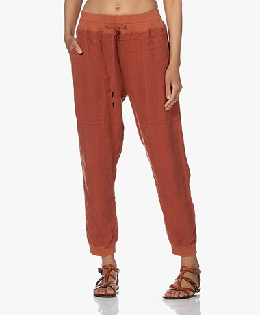 bassike Linen Loose-fit Utility Pants - Arkose