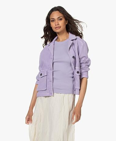 Drykorn Butea Cotton Blend Twill Jacket - Purple
