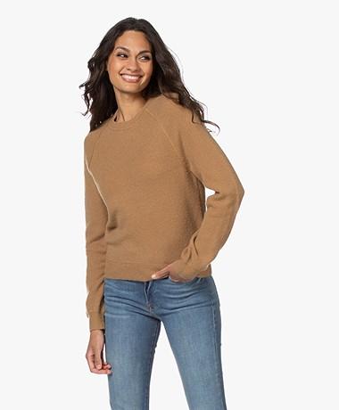 American Vintage Damsville Wool Blend Round Neck Sweater - Mongoose