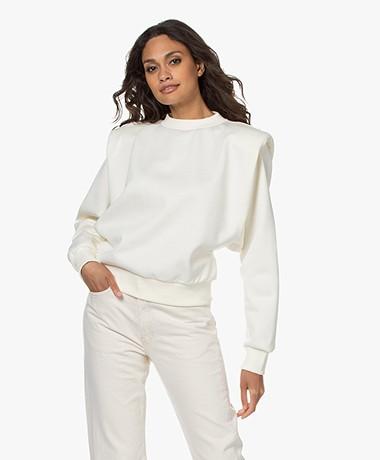 Les Coyotes de Paris Wanda Shoulder Padded Sweater - Off-White