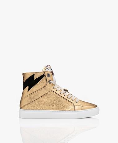 Zadig & Voltaire High Flash Leren Sneakers - Goud
