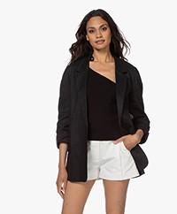 Resort Finest Laura Pure Linen Blazer - Black