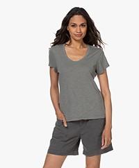 American Vintage Jacksonville Ronde Hals T-shirt - Vintage Silex