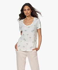 Rails The Luna Linen and Viscose T-shirt - Sketched Palms