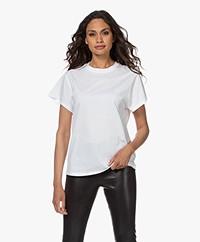 IRO Tabitha Katoenen T-shirt met Korte Mouwen - Wit