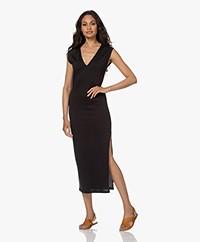 FRAME Le Muscle Jersey Midi Dress - Black