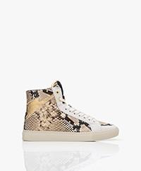 Zadig & Voltaire High Flash Leren Print Sneakers - Desert