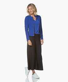 Drykorn Height Knitted Culottes - Dark Blue
