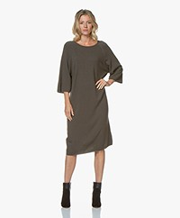 Sibin/Linnebjerg Lund Oversized Knitted Dress - Army Green